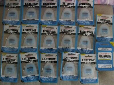 lot of 17 Listerine Ultraclean Mint Floss 30 Yards
