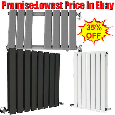 Anthracite Grey Sand White Designer Radiator Vertical Horizontal Flat Panel Rads