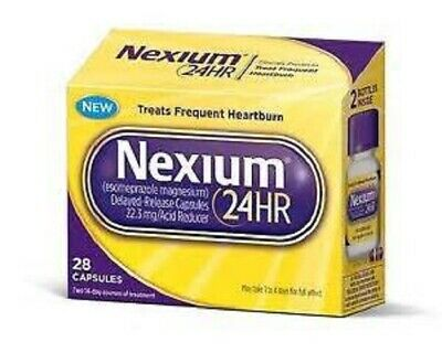 Nexium 24HR Treats Frequent Heartburn  28 Capsules FREE SHIPPING EXP 8/2020