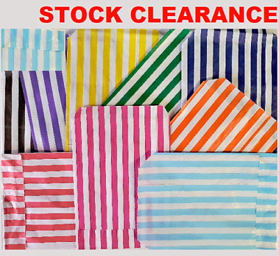 CANDY STRIPE SWEET BAGS 150 100 50 Paper Confectionery Bag Party Favor Stripey