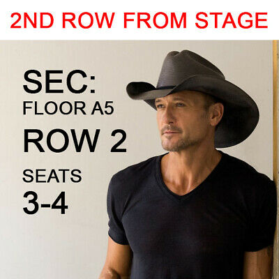 2 Floor Tickets Tim McGraw & Luke Combs 9/4/20 SoFi Stadium Inglewood, CA