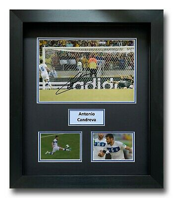 Antonio Candreva Hand Signed Framed Photo Display - Italy  Football Autograph.