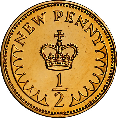 1971 - 1984 UK Decimal Halfpenny Proof Coins, pick the coins you want.