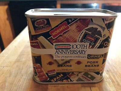 Hormel 100th Anniversary Souvenir Bank.   NEW.  1991