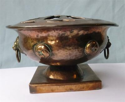 Arts & Crafts Hand Beaten Copper Rose Bowl - Scottish, Glasgow?