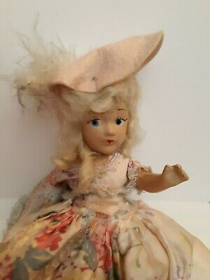 Very Old Antique Porcelain Hand Painted  Doll