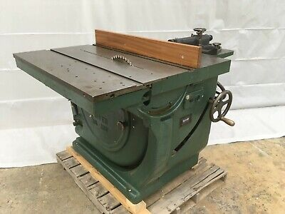"Oliver 16"" Sliding Table Saw, Model 260, Twin 5-hp Motors, Rack and Pinion"