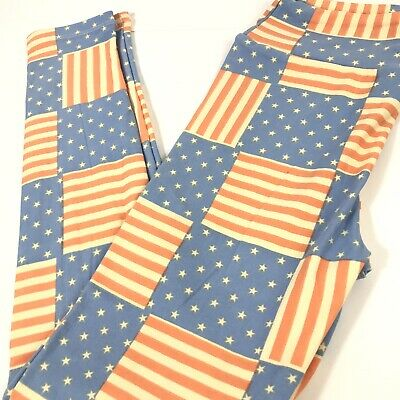 LuLaRoe Holiday 4th of July Leggings Kids Teen Tween Size Soft Americana NWOT