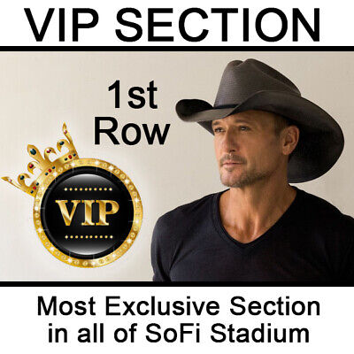 2 VIP Tickets Tim McGraw & Luke Combs 9/4/20 SoFi Stadium Inglewood, CA 1st ROW