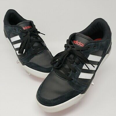 Adidas Neo Label Mens Shoes Sneakers Black White Red F76233 Size US11 UK10.5