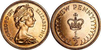 1971 - 1984 UK Decimal Halfpenny UNC. Pick the coin you want.
