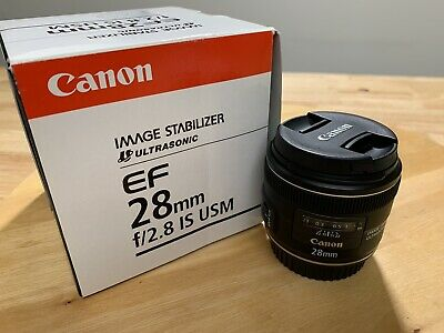 Canon EF 28 mm f/2.8 IS USM Wide Angle Lens Beautiful Condition