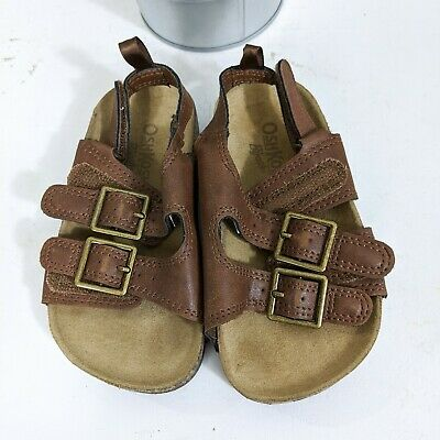 Osh Kosh B'Gosh Toddler Boys Brown Buckle Sandals Size 8