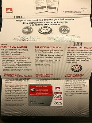 Petro Canada Fuel Savings Card - 3¢/l off 1000L when registered $30 value