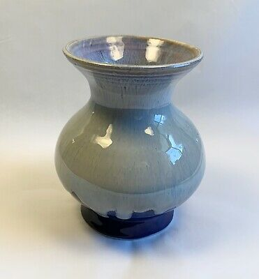 Hand Crafted Studio Pottery Art Drip Glaze Vase