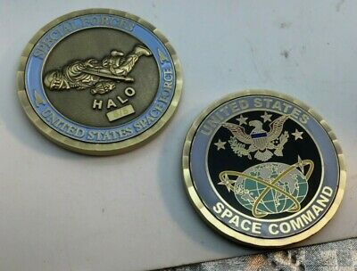 challenge coin Department of  SPACE FORCE special forces HALO  5/5 command