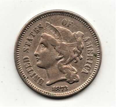 1873 3 Cent CN - nice HIGH Grade - superior type/collector coin