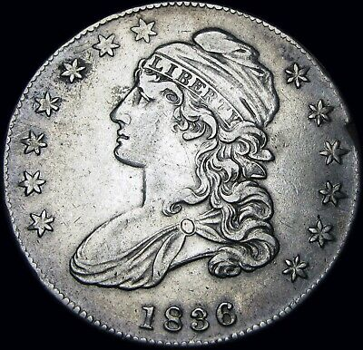 1836 Capped Bust Half Dollar Type Coin --- STUNNING --- #T557