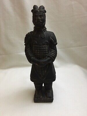 Vintage Chinese Terracotta Army Clay Warrior Soldier Statue Figurine,