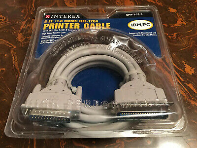 WebTV 6 ft IEEE 1284 Printer Cable PC