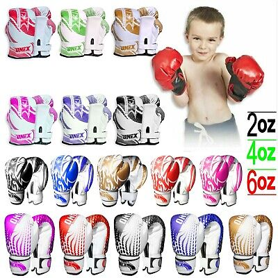 Kids Boxing Gloves Junior Punching Bag Mitts Muay Thai Training Sparring MMA