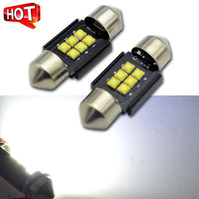 2 x 8 SMD LED 36mm 239 c5w CANBUS NO ERROR XENON WHITE NUMBER PLATE LIGHT  M2A9
