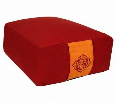 Coussin de méditation Rectangle - Zafu Bolster Yoga - Rouge