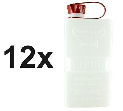 12x FuelFriend®-PLUS CLEAR 1.5 Liter Benzinkanister Minikanister Reservekanister