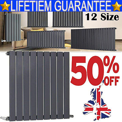 Anthracite Designer Radiator Vertical Horizontal Flat Panel Oval Column Rads New