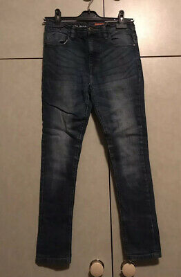 Next Boys Stretchy Blue Jeans Slim Fit Age 12 years Adjustable Waist Excellent