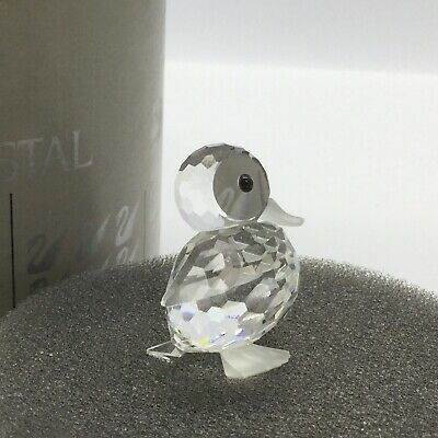 ✨' Swarovski' Silver Crystal Mini Duck With Frosted Detail Boxed!