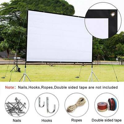 AU Foldable Portable Projector Screen 16:9 Rear Front Projection Home Theater