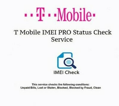 T-mobile USA Imei Check Service Clean / Financed / Blocked