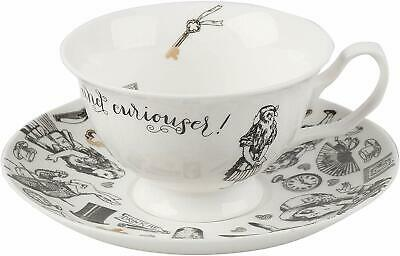 V&A Alice in Wonderland Tea Cup and Saucer Fine China Set 210 ml in Gift Box