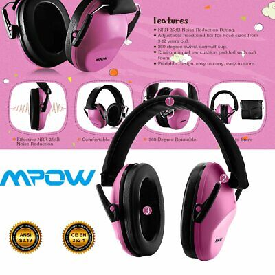 Mpow 068 Kids Ear Protection Safety Ear Muffs Noise Reduction Ear Defenders AU