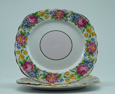 Colclough tea plates x3 in lovely condition - see photos