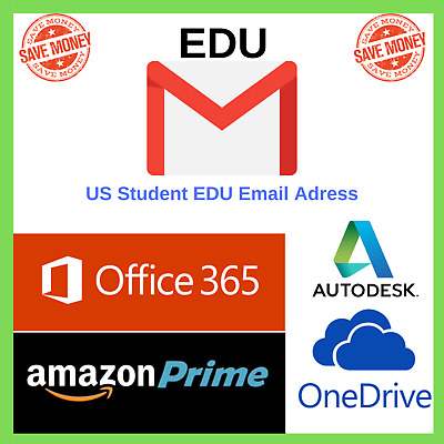 Edu Email 6Months Amazon Prime 1Tb OneDrive Storage Office 365 US Student Mail ✅