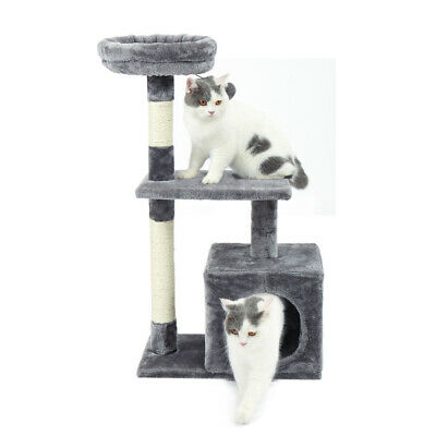 85CM Cat Tree Trees Scratching Post Scratcher Tower Condo House Furniture Wood