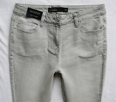BNWT NEXT Ladies new light grey  Strech Mid rise  skinny  jeans size 14R