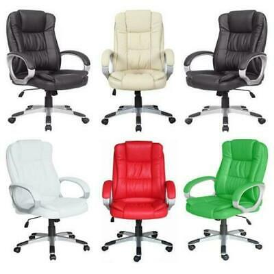 Managerial Office Chair Leather Recliner Adjustable Swivel Computer Desk Chairs