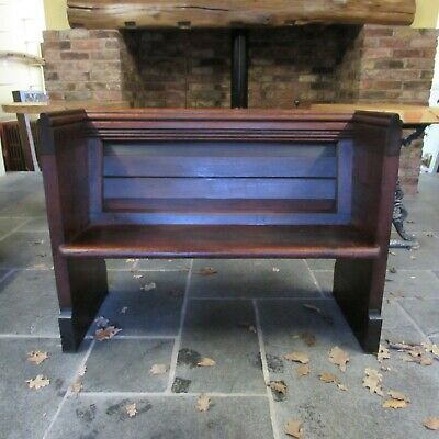 Antique Church Pew; 19th C Pitch Pew, Next day UK Delivery Available
