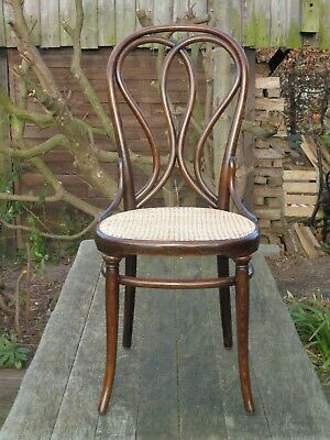 Early Thonet nr. 24with first stamp 1870-1881. Restored with new caning.