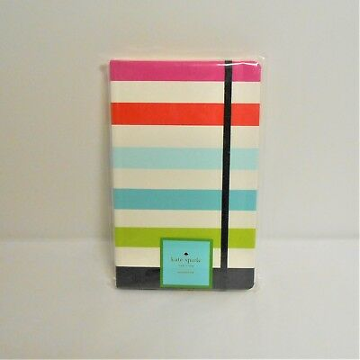 "Kate Spade New York ""Take Note"" Large Notebook Candy Stripe 168 Pages"