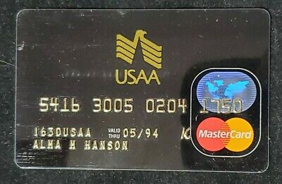 USAA MasterCard charge card exp 1994♡Free Shipping♡cc921♡
