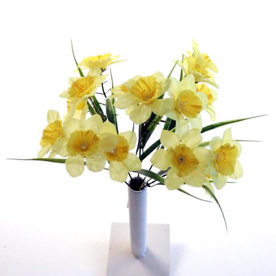 ARTIFICIAL SILK FLOWERS SMALL DAFFODIL BUNCH Wedding Home Outdoor