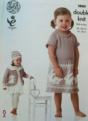 KINGCOLE 5087 BABY DK KNITTING PATTERN  16-22IN not the finished garments