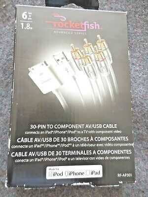iPad and iPod Rocketfish Mobile RF-ACNT2 Component Video Cable for Apple iPhone