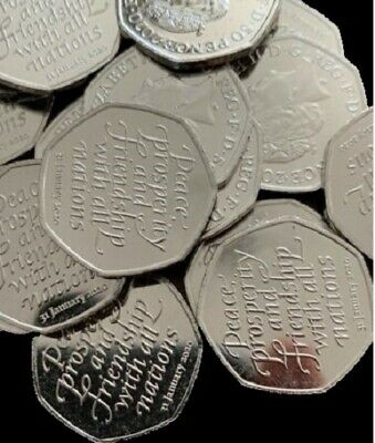 New Brexit 50p Coin 2020 Fifty Pence Coin Uncirculated from sealed bag.