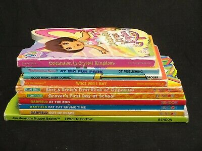 Lot Of 10 Mixed Board Books Children Kid Toddler Baby Preschool Day Care