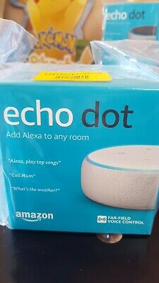 Amazon Echo Dot (3rd Generation)Smart Speaker with Alexa. Brand New In Box. 99p